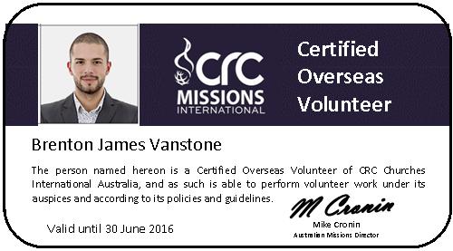 Overseas Volunteer Card
